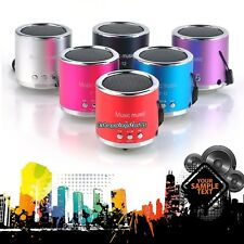 USB Mini Speaker Portable Stereo Music FM Player Micro SD TF For PC MP3 iPod01