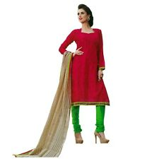 Designer Silk Embroidered Dupatta Salwar Kameez Suit Indian Dress-Asp-Shining-05