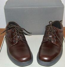 Mens Hush Puppies Glen Brown or Black Leather Lace Up Shoes