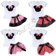 Top Skirt Pants Toddler Girls Polka Dot Minnie Mouse Outfit Dress Set Clothes
