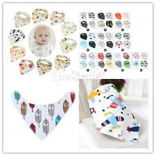 Infant Kids Baby Unisex Feeding Saliva Towel Triangle Bandana Bibs Dribble Scarf
