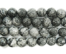 Gray Picture Jasper Faceted Gemstone Beads~Guaranteed