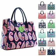 """Personalized 19"""" Beach Bag Open Top Utility Tote"""