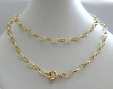 9ct 9k Solid Gold Belcher Chain Yellow Necklace 3.2mm N11 Custom