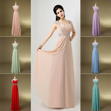 Formal Long Chiffon Party Evening Dresses Wedding Bridesmaid Prom Ballgown Stock