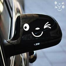 2X Smile Face Design 3D Decal Decoration Sticker for Car Side Mirror Rearview S