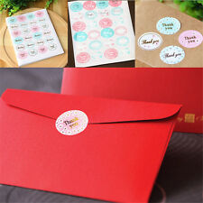 """5 Sheets/120Pcs Oval """"Thank You"""" Adhesive Seal Sticker Label New Envelope Decor"""