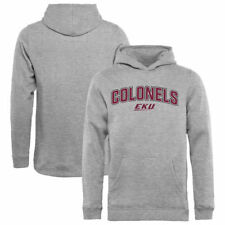 Eastern Kentucky Colonels Youth Proud Mascot Pullover Hoodie - Ash - - NCAA