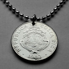 Costa Rica 25 cents coin pendant Costarricense Central America San Jose n001929