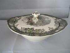 JOHNSON BROS FRIENDLY VILLAGE COVERED BRIDGE COVERED VEGETABLE DISH WITH LID