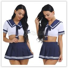 Costume Cosplay Uniform Fancy party Dress Sailor School Girl Dress with Skirt