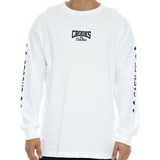Crooks & Castles The Corsica LS Tee in White NWT Crooks FREE SHIPPING