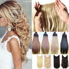 UK Straight Curly Wire Headband One Piece Clip in on Hair Extensions For Human