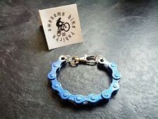 Blue Bicycle Chain Bracelet Cyclist Present Idea!  Bike Road MTB DH XT