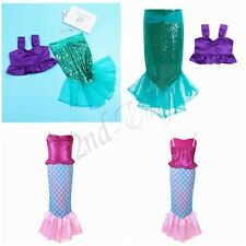 Kid Baby Girls  Mermaid Fish Tail Skirt Party Skirts Fancy Dress Cosplay Costume