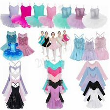 Girls Lace Ballet Dress Tutu Leotard Skirt Dance Gymnastics Fancy Fairy Costume