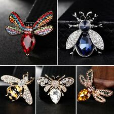 Fashion Honeybee Full Crystal Rhinestone Brooch Pin Women Lady Wedding Jewelry