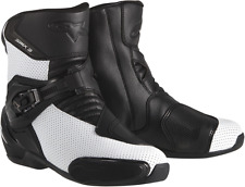 Alpinestars SMX-3 textile black & white vented motorcycle riding boots