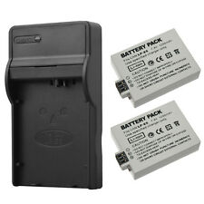 2x 1200mAh LP-E5 Battery + Charger For Canon EOS 450D 500D 1000D Kiss X3 Camera