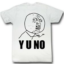 Y U No Guy Meme Trending #YUNo Y U No Stick Figure Guy Adult T-Shirt