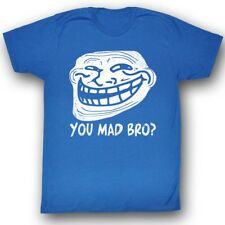 U Mad? You Mad Bro? Meme Trending Faded Vintage Style You Mad Bro? Adult T-Shirt