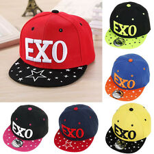 "Babys Kids ""EXO"" Letter Embroidery Hip Hop Hat Adjustable Snapback Baseball Cap"