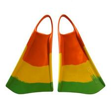New Ally Floating ERS4 Swim/Bodyboarding Fins/Extra Large/Green/Yellow/Orange