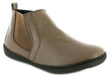 New Ladies/Womens Taupe Dr Keller Pearl Casual Slip Ons Ankle Boots. UK SIZES