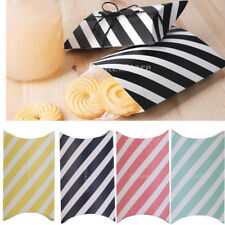 12pcs Stripe Pillow Design Wedding Birthday Party Sweets Candy Gift Favors Boxes