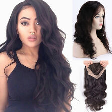 100% Brazilian Human Hair Full Lace Wigs Long Straight Daily Wig For Ladies LC