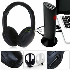 5 in 1 HiFi Wireless Headphone Headset Monitor FM Radio MP3 PC TV Audio Phones