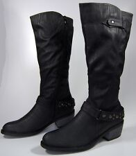 Ladies Boots Black Winter Shoes Women's boots padded Shoes with Heel