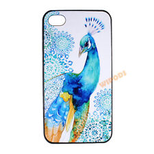 Peacock Bird Floral Pattern Blue Hard Case Cover Skin for Apple iPhone 4 4S 5 5S