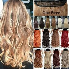 Clip In Hair Extensions 100% Thick One Piece Hair Extensions Long As Human LF3