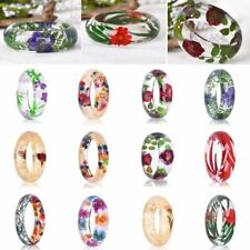 Natural Clear DIY Resin Real Dried Flower Plant Bracelet Women Lady Jewelry Gift