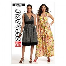 Butterick See & Sew Ladies Easy Sewing Pattern 5307 Summer Dresses (Butte...