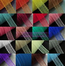 Wholesale Bilateral Handicrafts Embroidered Net Lace Trim Ribbon Bow Crafts