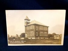 Early RPPC Real Photo Postcard Public School Building Stockertown Nazareth PA