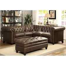 Royal Mid-Century Button Tufted Design Living Room Sectional Sofa with