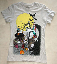 New Disney The Nightmare Before Christmas Movie Group Gray Tee T-Shirt JRS Small