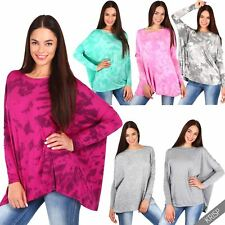 Women Ladies Casual Oversized Baggy Loose Long Jersey T Shirt Top Plus Tee Tunic