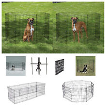 """Medium/Large AFFORDABLE Exercise Pens for Dogs & Pets 36 """" Black Wire Ex Pen"""
