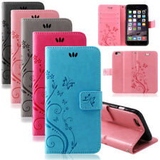 iPhone Pouch Cover Cases Flowers Flip Cover Book Case