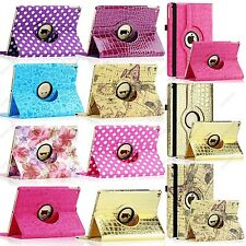 Polka Dot Flower Map 360 Rotate Leather Case Smart Cover Stand For iPad Air 2