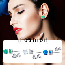 6mm Perfect Round Fire Opal Ear Stud Post Earrings Engagement Wedding Chic Gift