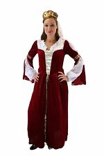 Costume Ladies Queen Princess Noble woman noble Medieval Fairytale red K43