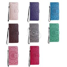 Sunflower PU Leather Flip Wrist Holder Protective Case Cover For iPhone/Samsung