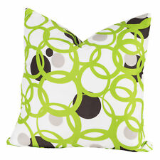 SISCovers Full Circle Green/Black/White Polyester Square Throw Pillow