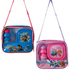 PAW PATROL LUNCH BAG SCHOOL SANDWICH BOX DRINKS BOTTLE SET INSULATED OFFICIAL