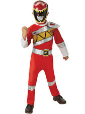 Dino Charge Deluxe Power Rangers Red Outfit Fancy Dress Costume Boys (3-8y)